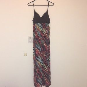 Juniors/Womens Animal Print Maxi Dress Large 11-13